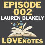 Episode 002 – Lauren Blakely talks audiobooks and her author beginnings